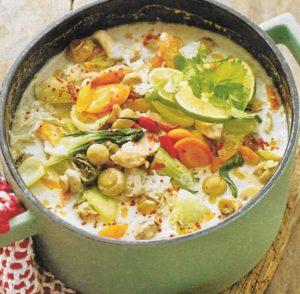 Hühner Kokos Suppe