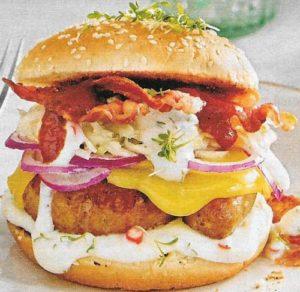 Würstchen Burger