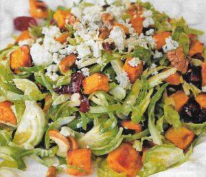 Süßkartoffelsalat Rosenkohl