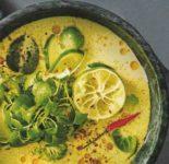 Vegane Grüne Gemüse-Kokos-Suppe