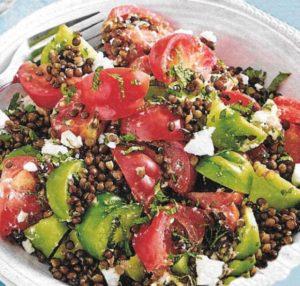Belugalinsen-Tomaten-Salat