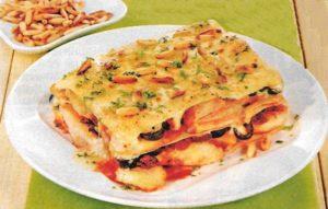 Würzige Hähnchen Lasagne