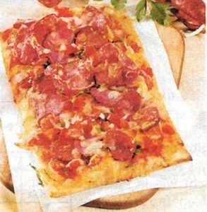 Low Carb Salami Pizza