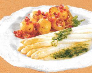 Spargel mit Speckkartoffeln
