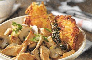 Putengeschnetzeltes mit Pilz-Sahne-Sauce