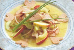 Wurstsalat mit Geflügelwurst