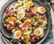 Currylinsen mit Ei