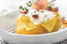 Ofenkartoffel mit Ziegenfrischkäse-Dip