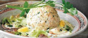 Pilz-Lauch-Gemüse mit Semmelknödel