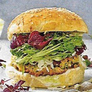 Burger mit Lachs