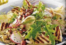 Salat mit Fenchel und Halloumi