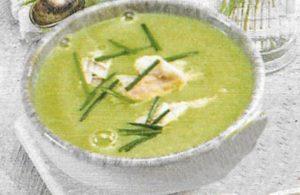 Erbsen-Heilbutt-Suppe